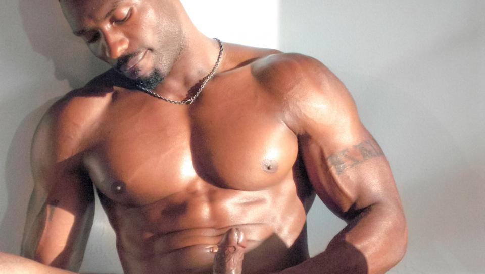 Hot Ebony Man Piske, at Big Fedtet Cock Og også-1990