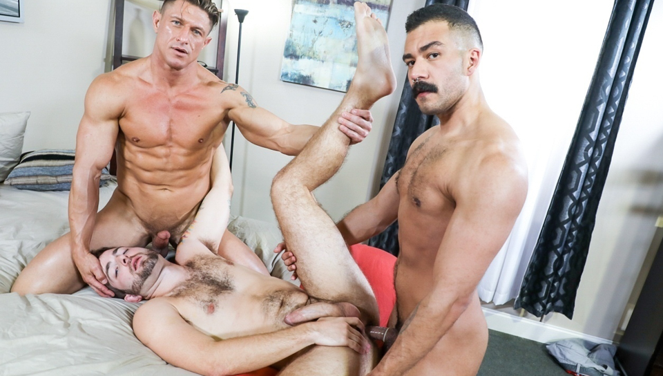 Chad Stone and Jay Donahue tag team Bryce Evanss tight ass.