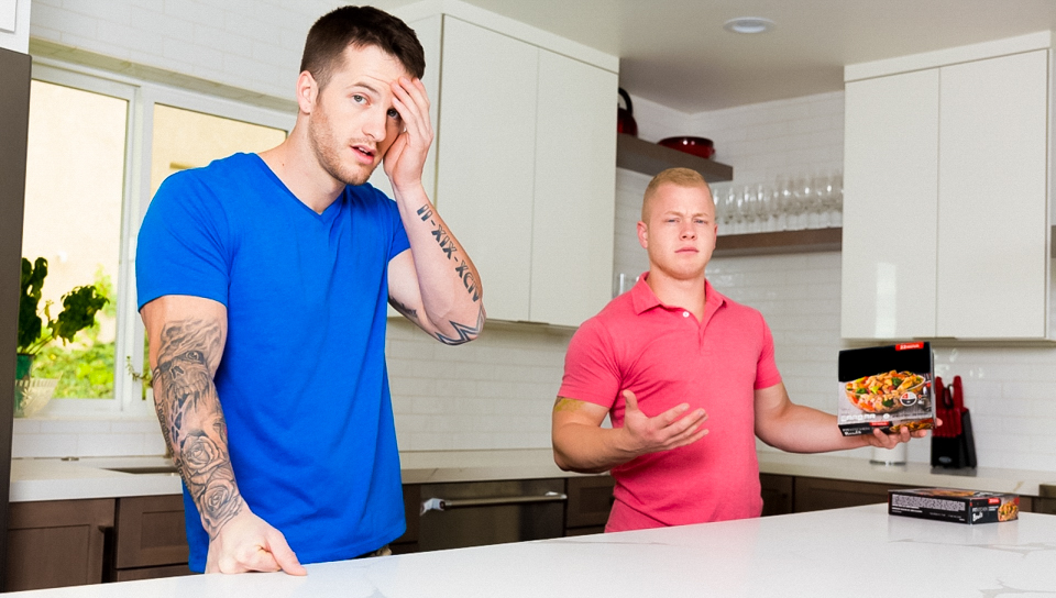 Cooking lie turns into fuck session for Quentin and Leo
