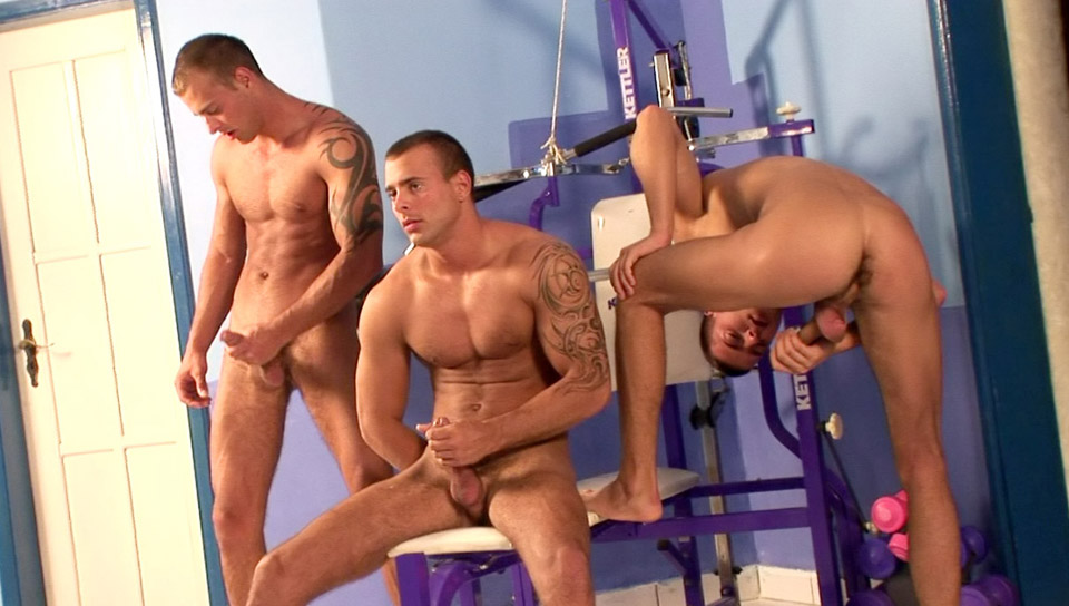 Triplets Gym Threesome
