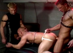 Mark Skyler, Jackson Price, Evan Taylor gay muscle video from Falcon Studios