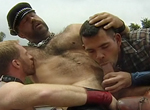 Adam Faust, Dak Ramsey gay muscle video from Falcon Studios