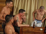 Zane Jacobs, Danny Arnez, Shane Frost, Marcus Adams gay muscle video from Falcon Studios