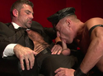 Tyler Saint, Bruno Bond gay muscle video from Falcon Studios