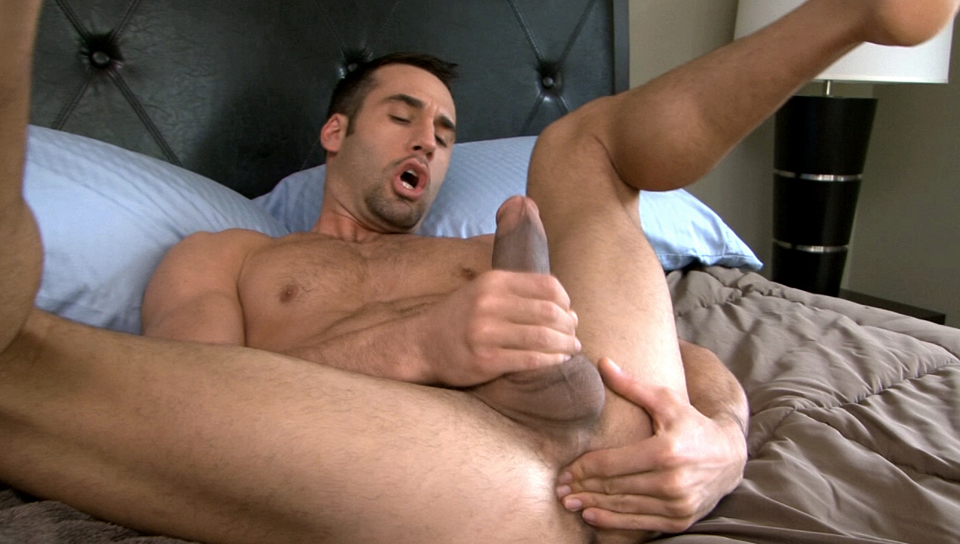 Tyler masterbating, tugs works his beautiful cock until he cums