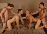 James Jamesson, Samuel O'Toole, Paul Wagner, Tyler Ford gay jocks/frat boys video from Next Door Buddies