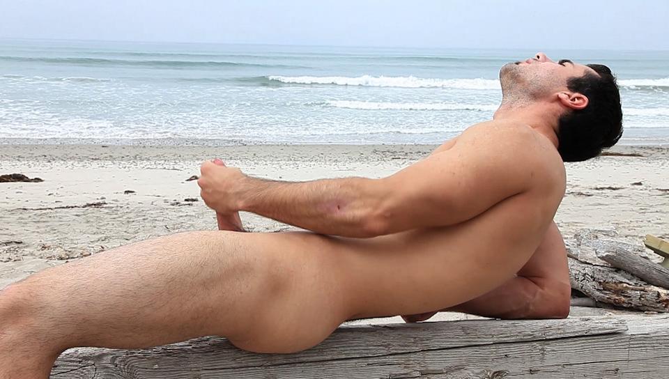 Hot nude gay male in sea beach