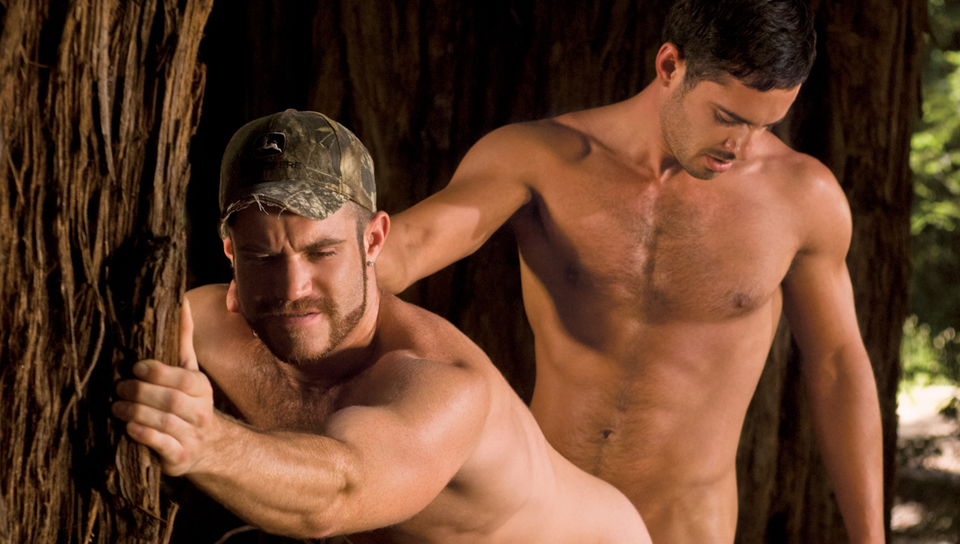 Trent Locke, Donny Wright gay muscle video from Falcon Studios