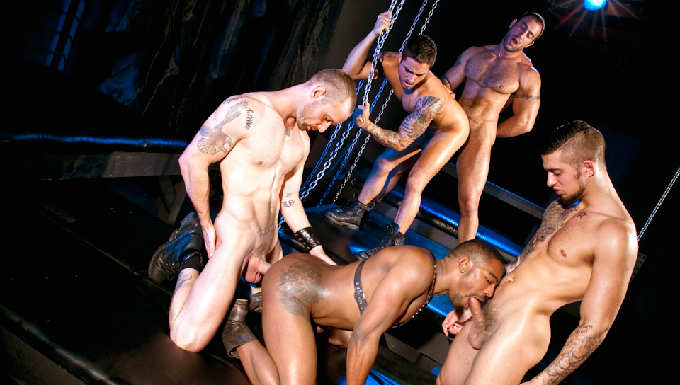 Fucked Down – Five Man Orgy Part 02