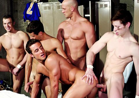 Rob Romoni, Josh Weston, Cal Jackson, Jason Hawke, Andy Hunter gay jocks/frat boys video from Jocks Studios
