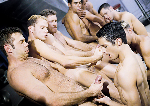 Nine Man Hazing Orgy clitoral