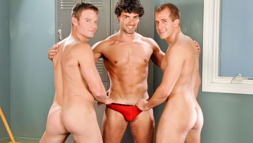 Jeremy Bilding, Brandon Lewis, Steven Daigle gay networks video from Next Door World