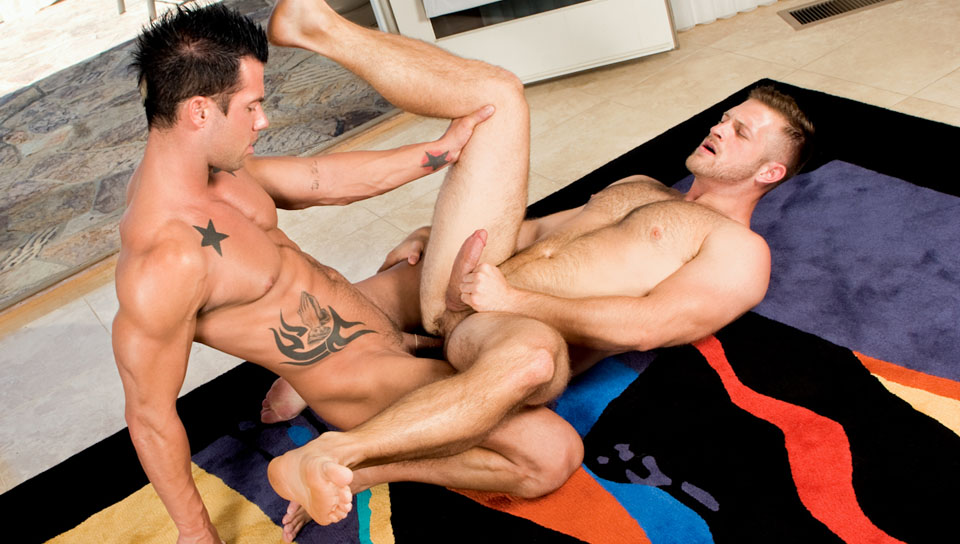 Rod Daily, Paul Wagner gay muscle video from Falcon Studios