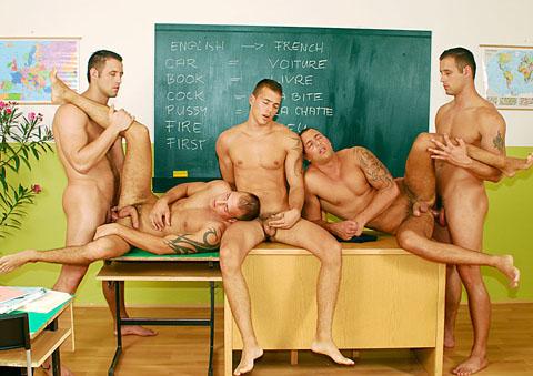 Jason Visconti, Jimmy Visconti, Joey Visconti, Fabrizio Mangiatti gay individual models video from Visconti Triplets
